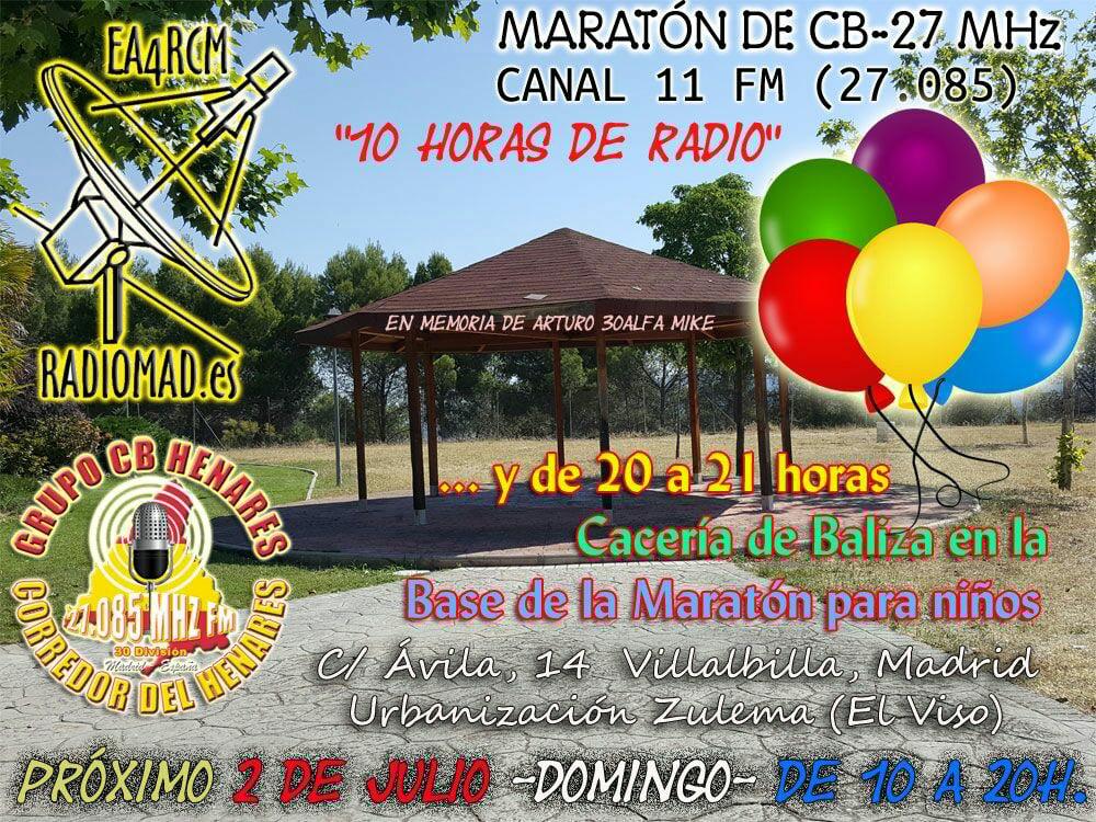 Maratón canal 11 FM CB27Mhz
