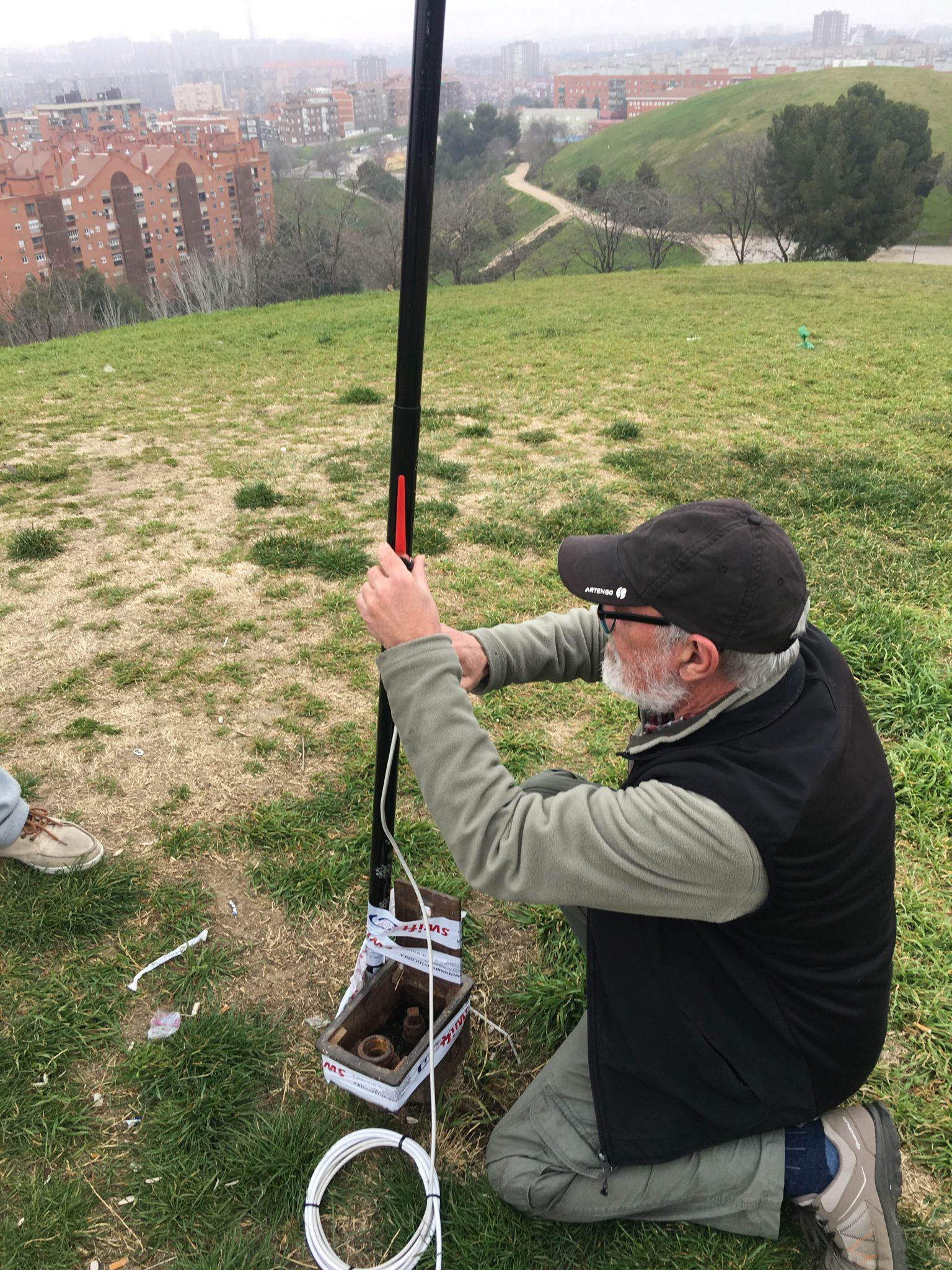3ª pruebas de antenas en el Cerro del Tío Pío
