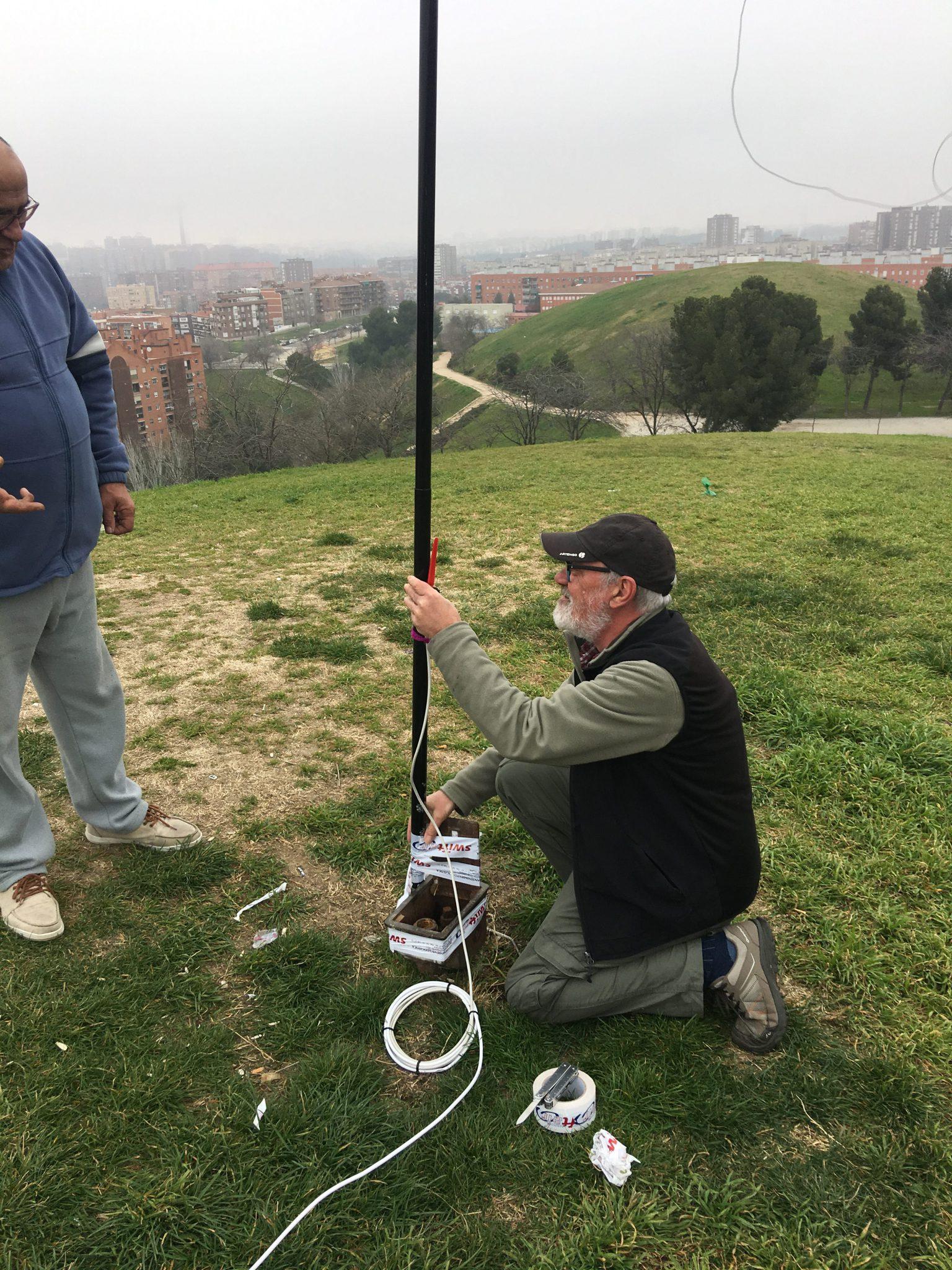 3ª prubas de antenas en el Cerro del Tío Pío