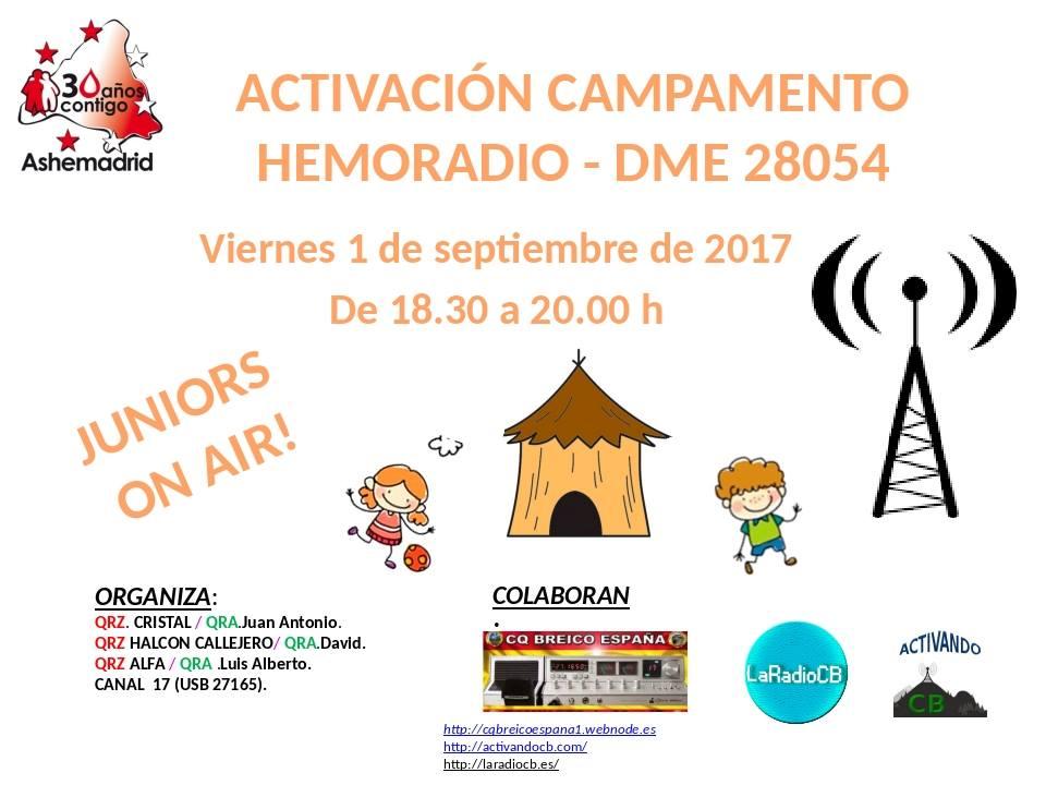 Activación especial CB27Mhz Campamento Hemoradio