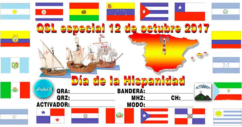 QSL Especial Día de la Hispanidad   LaRadioCB