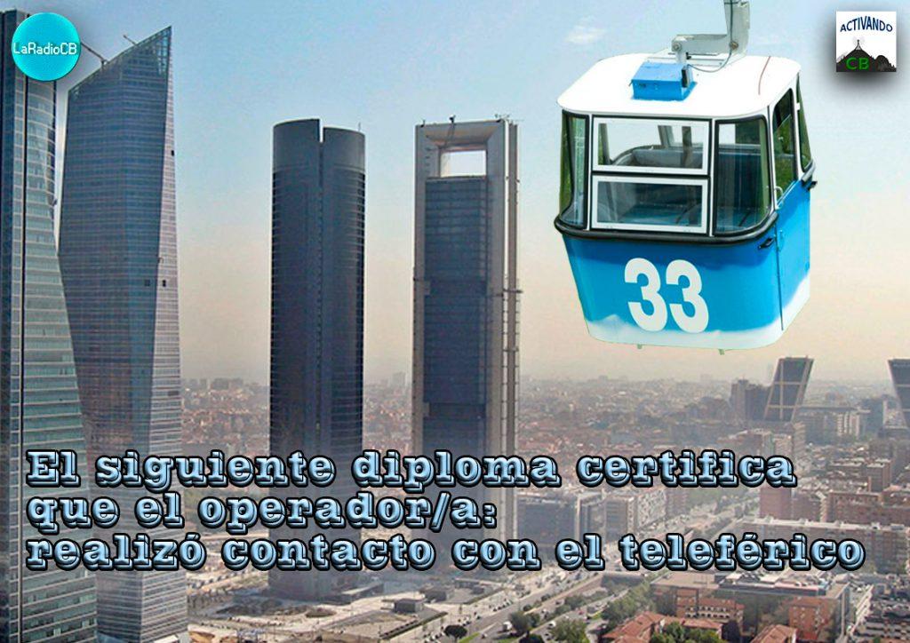Activación especial del teleférico de Madrid