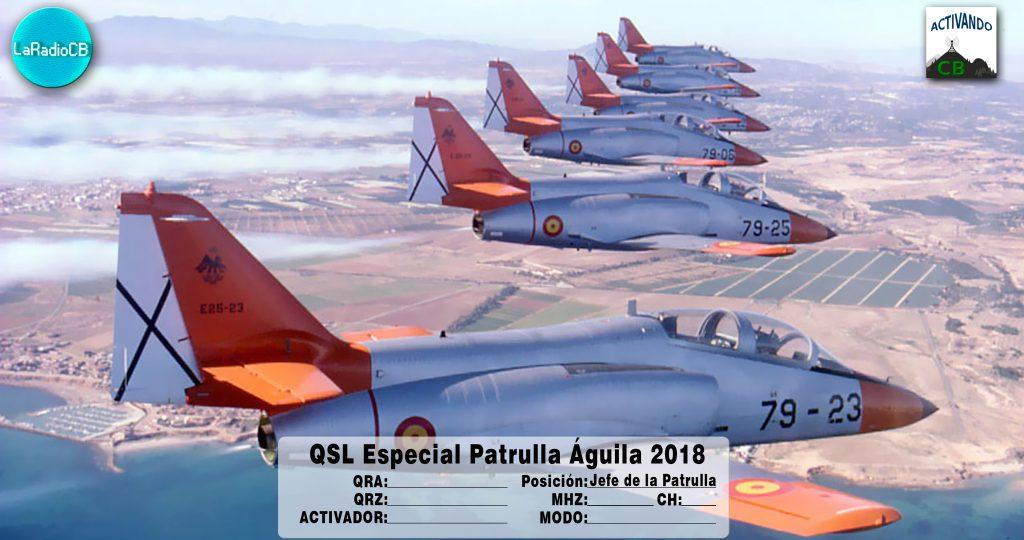 QSL Especial Patrulla Águila 2018 Jefe de la Patrulla