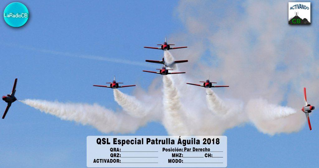 QSL Especial Patrulla Águila 2018-Par Derecho