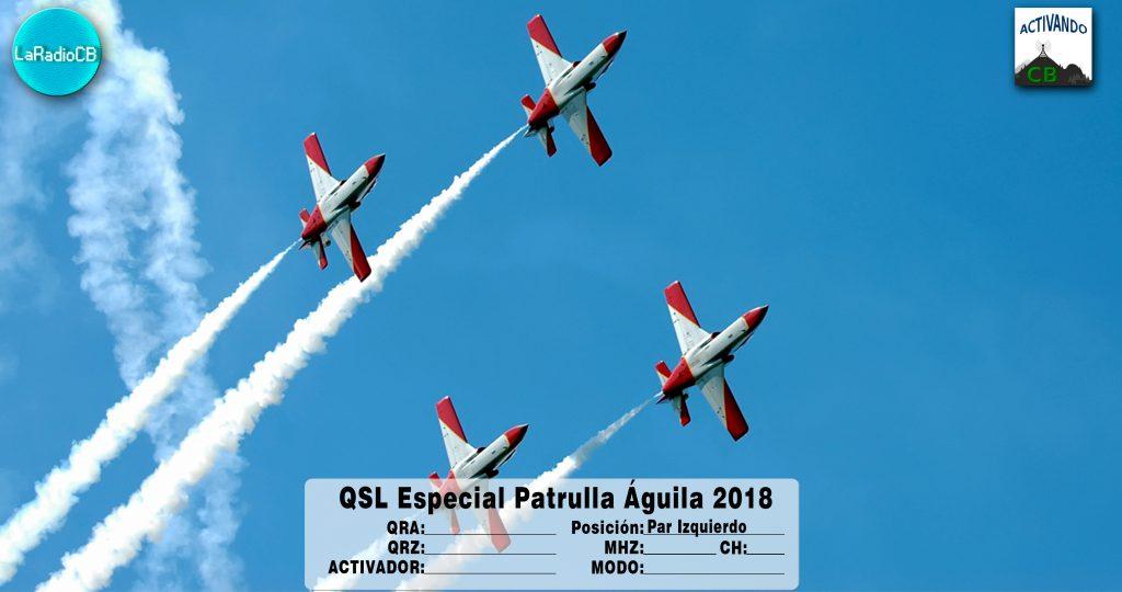 QSL Especial Patrulla Águila 2018-Par Izquierdo