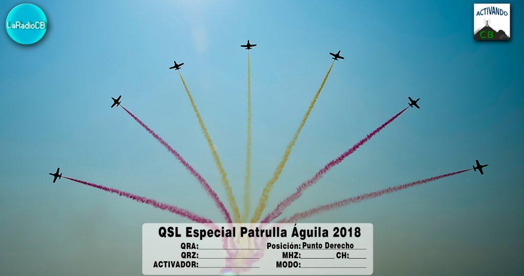 QSL Especial Patrulla Águila 2018-Punto Derecho