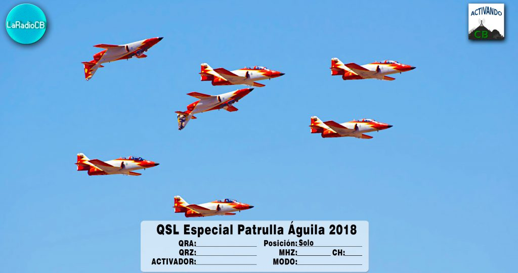 QSL Especial Patrulla Águila 2018-Solo