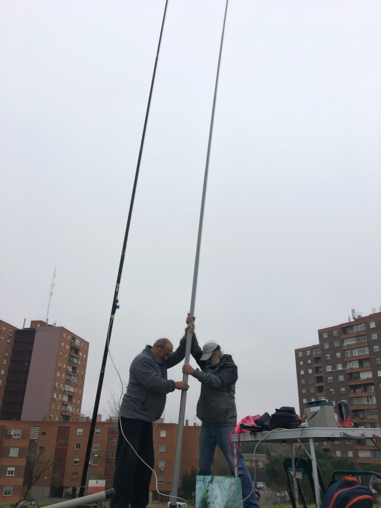 4ª pruebas de antenas en el Cerro del Tío Pío 12/2018