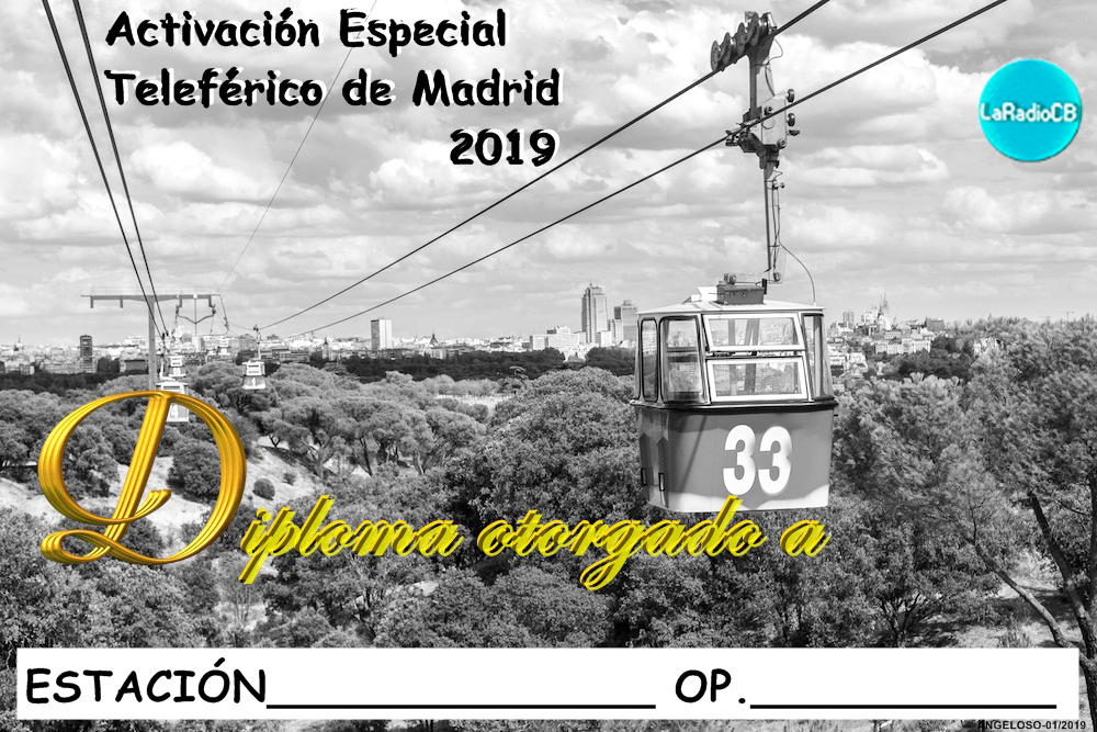 Diploma especial Teleférico 2019.