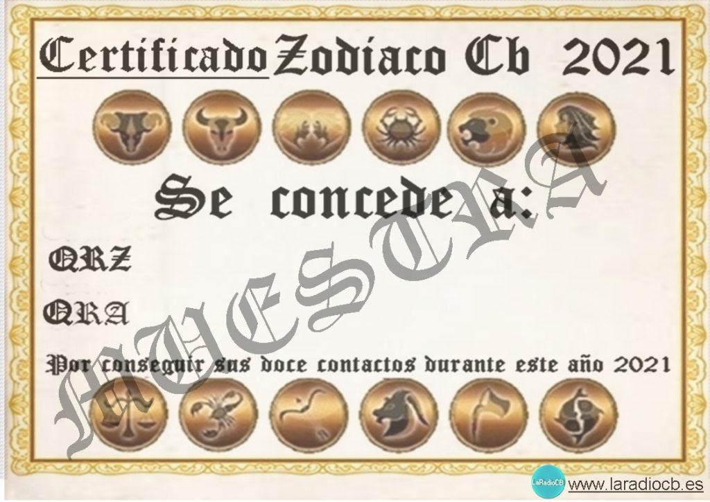 Diploma Zodiaco en CB27Mhz 2021